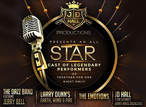 The Dazz Band, The Emotions, Larry Dunn & JD Hall and The Ultimate Barry White Symphony Orchestra at The Wiltern