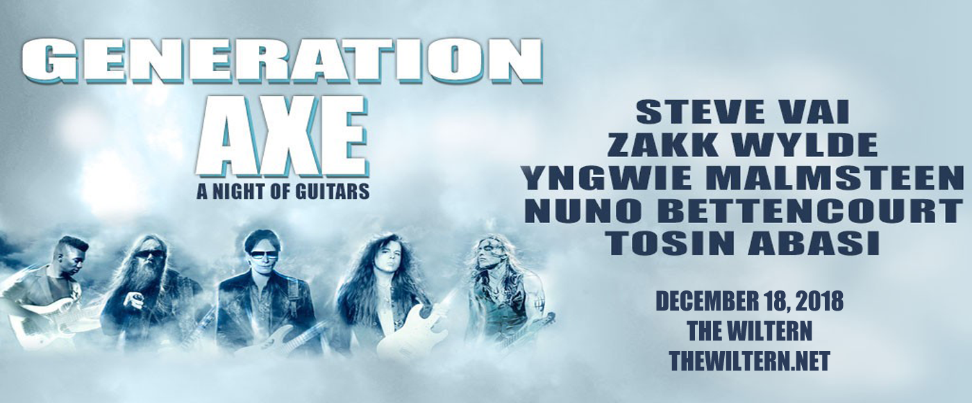 Generation Axe, Steve Vai, Zakk Wylde, Yngwie Malmsteen, Nuno Bettencourt & Tosin Abasi at The Wiltern