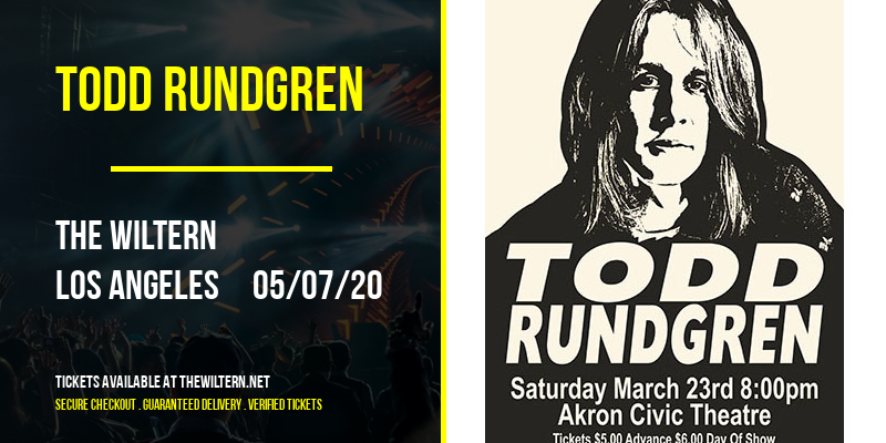 Todd Rundgren [CANCELLED] at The Wiltern