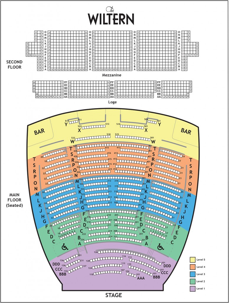 The wiltern seating chart the wiltern