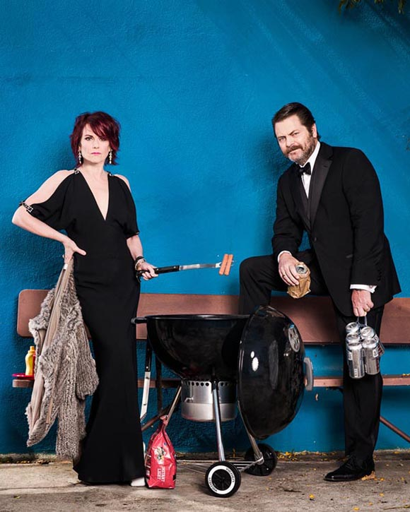 Nick Offerman & Megan Mullally at The Wiltern
